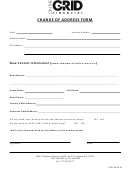 Change Of Address Form - On The Grid Financial