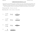 Chem 8a Elimination Reactions Worksheet