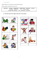 My School English Practice Worksheets Set - Upper School Esl Printable pdf