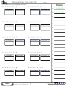 Identifying Number Value (within 100) Worksheets With Answers Keys