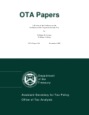 Ota Paper 101: A Review Of The Evidence On The Incidence Of The Corporate Income Tax - William M. Gentry (office Of Tax Analysis, Us Department Of The Treasury)
