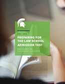 Preparing For The Law School Admission Test (Lsat) 2015-2016, Michigan State University College Of Law Printable pdf