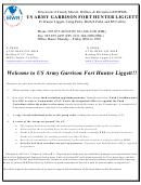 Us Army Garrison Fort Hunter Ligget Memorandum Requests For Unit Fund