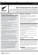Self-assessment Guide For Residence In New Zealand