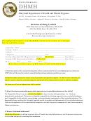 Maryland Controlled Dangerous Substances Researcher Questionnaire