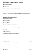 Management Committee Report Template