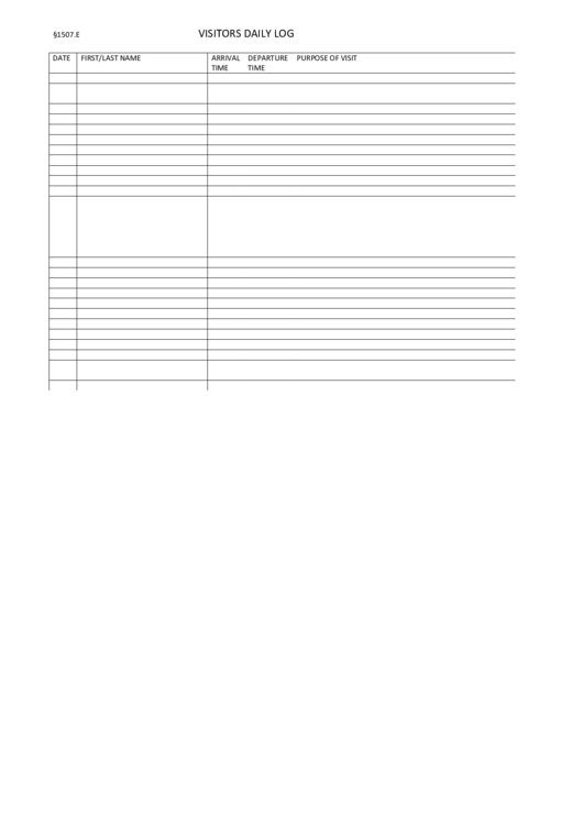 Top 6 daily log book templates free to download in pdf format for Visitors log book template