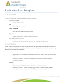 Evaluation Plan Template