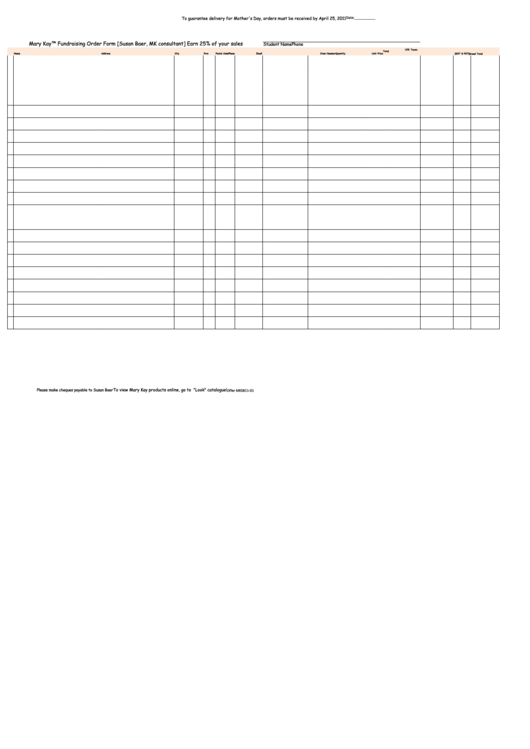 Top 14 Mary Kay Order Form Templates free to download in PDF, Word ...
