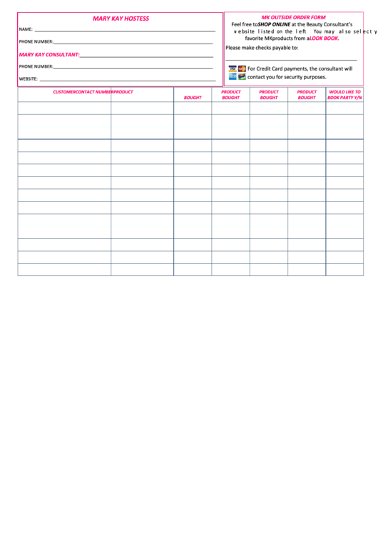 Mary Kay Consultant Order Form Pdf Resigning As A Mary Kay