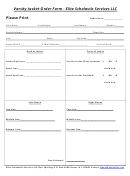 Varsity Jacket Order Form - Elite Scholastic Services Llc