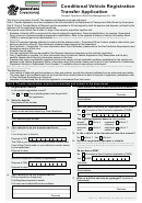 Form F4101 Cfd - Conditional Vehicle Registration Transfer Application