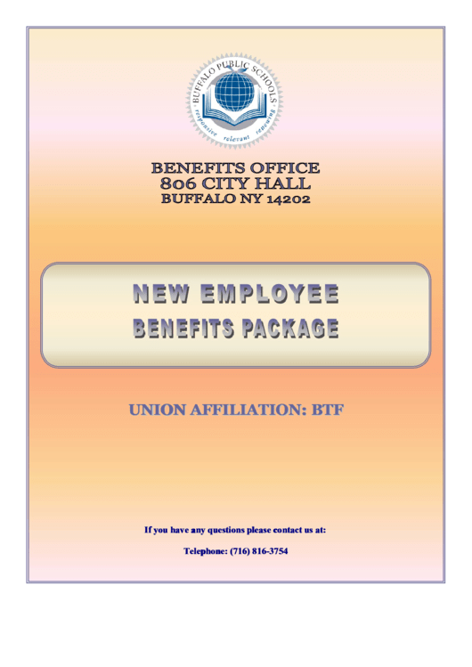 Buffalo City School District Employee Health Insurance Enrollment Form Printable pdf