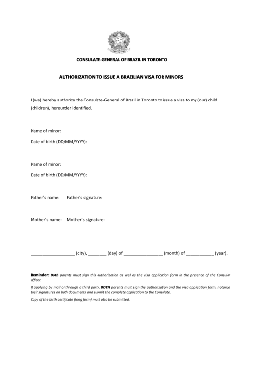 Top 7 Brazil Visa Application Form Templates free to download in ...