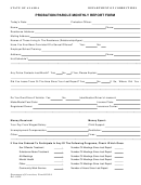 Department Of Corrections Probation/parole Monthly Report Form