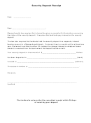 Security Deposit Receipt Template - Massachusetts