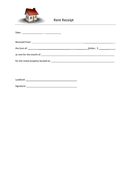 fillable rent receipt template fillable printable pdf