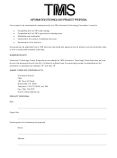 Sample Information Technology Proposal Template