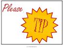 Tip Jar Sign Template