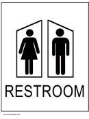 Restroom Both Sign