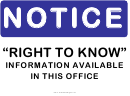 Notice Right To Know Sign