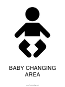 Baby Changing Area Sign Template