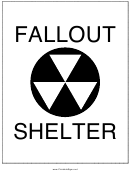 Fallout Shelter Sign Template
