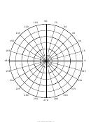 Polar Half-inch Graph Paper Template