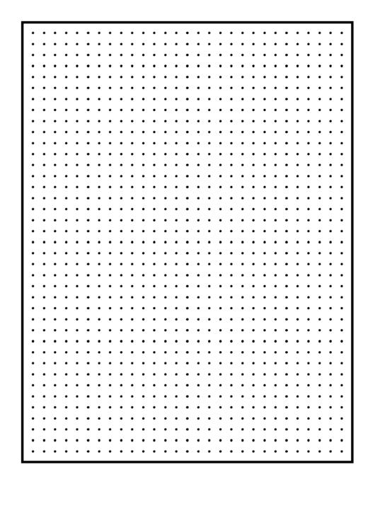 Dots Quarter-Inch Graph Paper Printable pdf