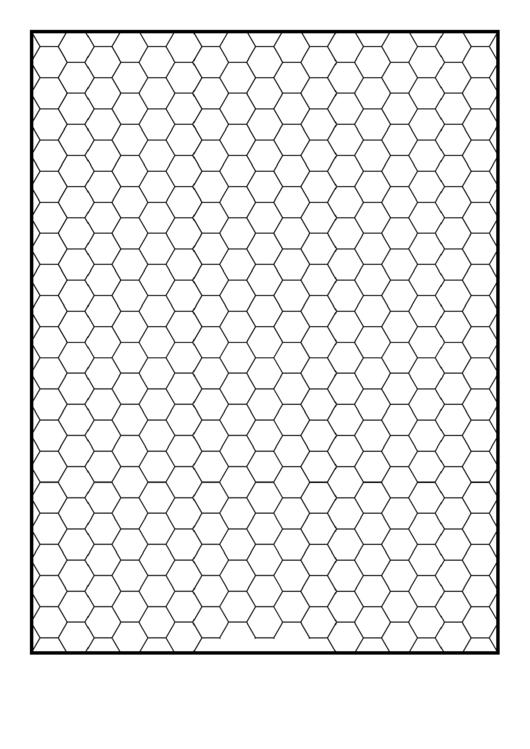 Hex Half-Inch Graph Paper Printable pdf