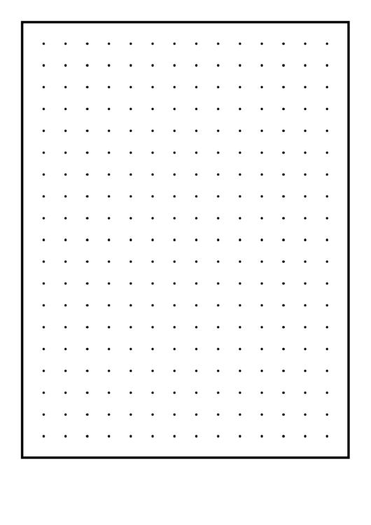 Dots Half-Inch Graph Paper Printable pdf