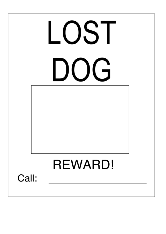 Lost Dog Sign Template