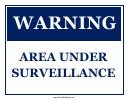 Area Under Surveillance Sign