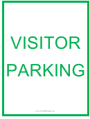Visitor Parking Green Sign