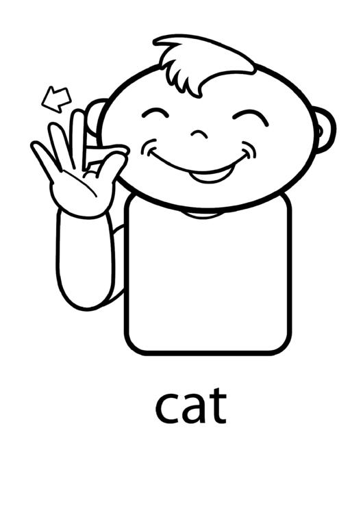 Cat Sign Template Printable pdf