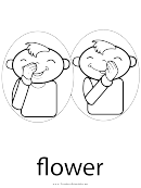 Sign Language Words: Flower Sign