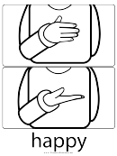 Sign Language Words: Happy Sign