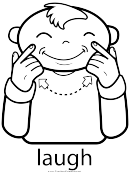 Sign Language Words: Laugh Sign