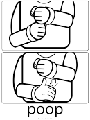 Poop Sign (sign Language Words)