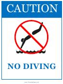 Caution - No Diving
