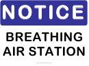 Notice Breathing Air Station Sign