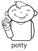 Sign Language Words: Potty Sign