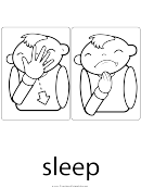 Sign Language Words: Sleep Sign