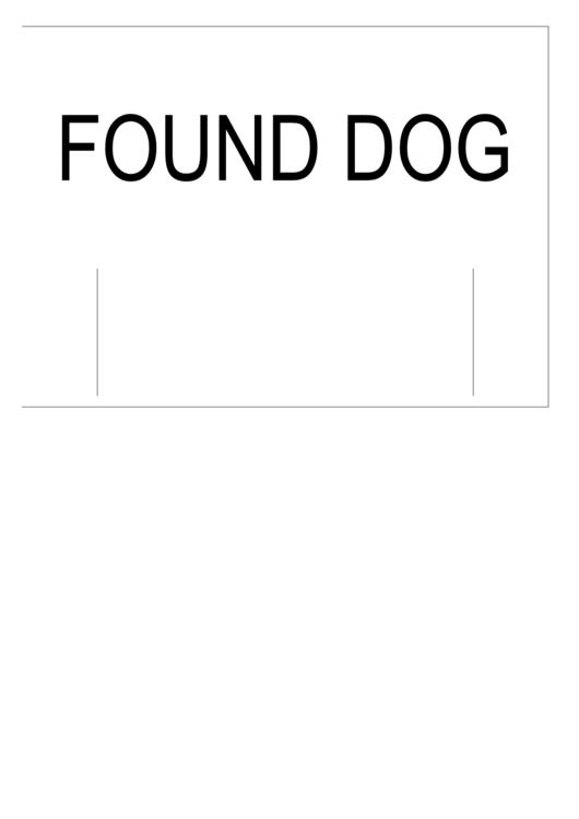 Found Dog Poster Template Printable pdf