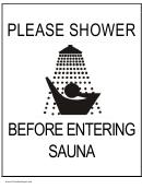 Showerbeforeenteringsauna