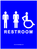 Access Rest Room All Sign