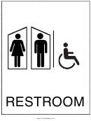 Handicapped Restroom Men Women Sign