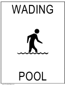 Wading Pool Sign Template