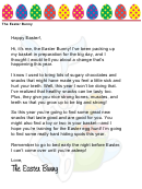 Easter Bunny Letter Template - Healthy Snacks