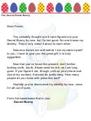 secret easter bunny letter template puns